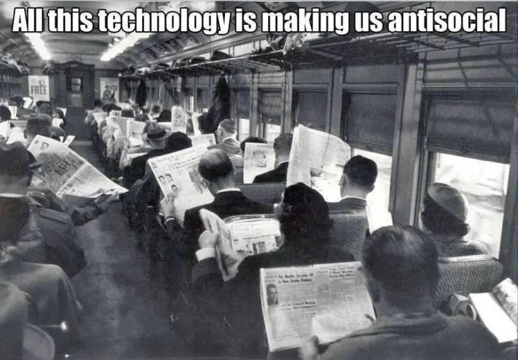 Tehnology making us antisocial